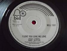 "Gary Glitter~I Love You Love Me Love/Hands Up! [7""@45] 1973"