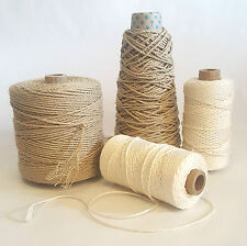 Strong Smooth Natural Pure Linen Warp Yarn, Macrame Cord, String, Thread Weaving