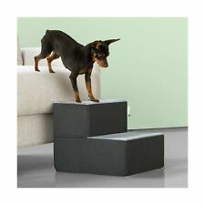 Zinus 2 Step Easy Pet Stair Ramp Ladder X-Small Comfortable Cozy cover Removable