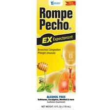 Rompe Pecho Expectorant Liquid With Honey, 6 oz