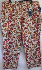 Plus Size 22W 3X Charter Club Floral Classic Straight-Leg Denim Jeans New $64.00