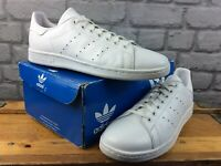 ADIDAS ORIGINALS MENS UK 9 EU 43 1/3 STAN SMITH TRIPLE WHITE TRAINERS M