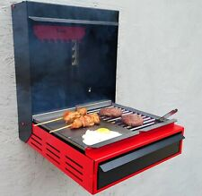 Wall Mount Fold Out With Modular Grill Top Barbecue Outdoor Party Garden Stove
