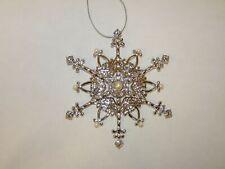 Franklin Mint Pearl & Crystal Snowflake Christmas Ornament B11E920