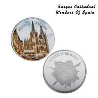 Moneda conmemorativa de plata de la Catedral de Burgos de España Coleccionables