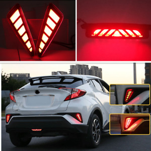 For Toyota CHR C-HR 2016-2020 LED Rear Fog Light Tail Bumper Light Sets L&R&mid