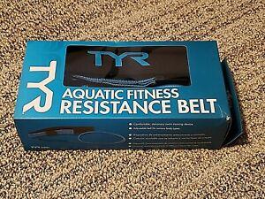 TYR Aquatic Resistance Belt - One Size, Black & Blue - New - Pls Read