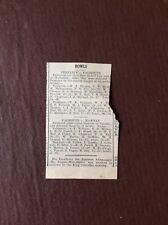B8c Ephemera 1929 Article Bowls Falmouth V Penzance W J Thomas Ferris Keast Hall
