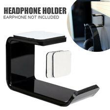 Headphone Stand Acrylic Hook Hanger Tape Under Desk Dual Headset Mount Holder US
