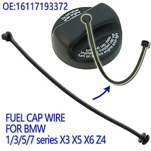 For BMW E81 E82 E87 Gas Fuel Tank Filler Cap Tether Wire E88 E90 E63 E64 E65 E83