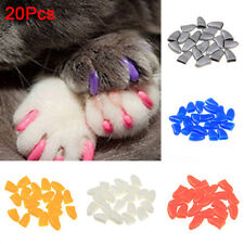 BL_ 20Pcs Soft Gel Nail Caps For Pet Cats Dog Claws Anti Scratch Control Paws Be