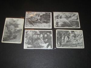 1964 Sulmer COMBAT War Cards (Lot of 5)  16, 32, 73, 98, 122