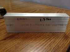 6061,Aluminum,BILLET,BLOCK,NEW,1x2x6.5 Hobbyist,machinist,CNC stock