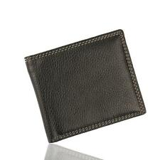 Men Leather Card Cash Receipt Holder Organizer Bifold Wallet Purse Black New