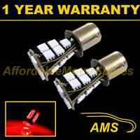2X 382 1156 BA15s 207 P21W XENON RED 21 SMD LED REAR FOG LIGHT BULBS RF201703