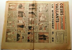 COEURS VAILLANTS 1938 n°33 - Hergé. Tintin. le mystère de l'avion gris