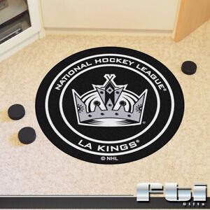 """Los Angeles Kings NHL Hockey Puck Shaped 27"""" Round Door Floor Mat Rug Carpet"""