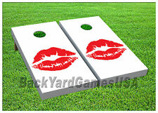Vinyl Wraps Cornhole Boards Decals Red Hot Lipstick Xo BagToss Game Stickers 609
