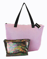 IDEOLOGY Pink and Black Mesh Shoulder Tote Bag Msrp $69.50 ** NEW WITH TAG **
