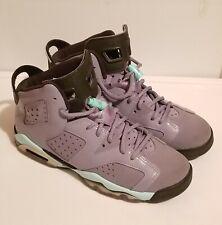 2014 Nike Air Jordan 6 Retro GG Iron Purple Size 6Y 543390-508