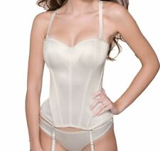 Ivory Masquerade Tiffany Multiway Basque UK 28DD Bridal Strapless Suspenders