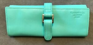 Tiffany Genuine Jewellery Roll / Case / Pouch Leather Tiffany Blue