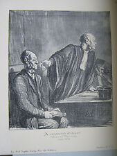 Honore DAUMIER print A RESPECTED CITIZEN law scene MINT New York Graphic Society
