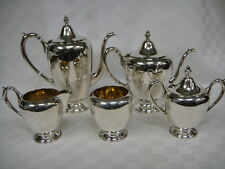 F. B. ROGERS Silver Co. STERLING Coffee Tea Creamer & 2 Sugar Sets 1,595.7 grams