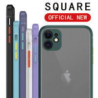 Case For iPhone 12 Mini 11 Pro Max XR 7 8 X XS ShockProof Matte Clear Hard Cover