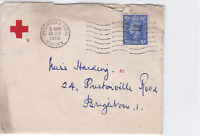brighton & hove 1950 red cross society entire letter  stamps cover ref r15284