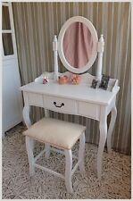 Schminktisch Frisiertisch mit Spiegel und Hocker Landhaus Stil Schlafzimmer NEU