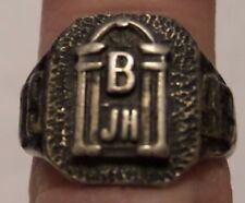 VTG 1942 JUNIOR HIGH SCHOOL RING STERLING SILVER SIZE 6 1/4 HALLMARKED TESTED