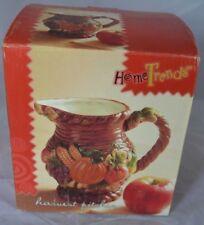 Vintage Home Trends Pumpkin Ceramic Harvest Pitcher Thanksgiving