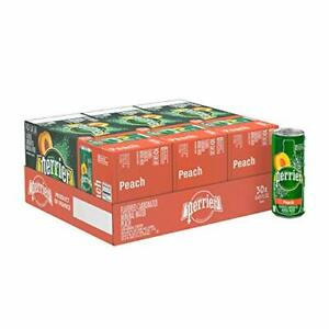 Perrier Peach Flavored Carbonated Mineral Water, 8.45 Fl Oz  Assorted Flavors