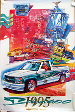 POSTER ~1995 BRICKYARD 400 ~ CHEVROLET PICKUP PACE CAR ~ NASCAR INDY