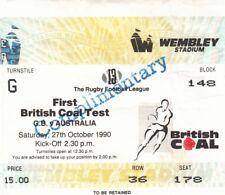 BIGLIETTO-GRAN BRETAGNA V Australia 27.10.1990 prima prova @ WEMBLEY