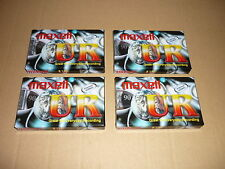 *LOT DE 4 CASSETTES AUDIO VIERGES MAXELL 90 IEC TYPE I NORMAL EQ 120 US