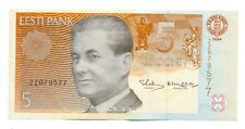 Estonia Estonian 5 krooni 1994 banknote seria ZZ (Replacement Note) VF RARE