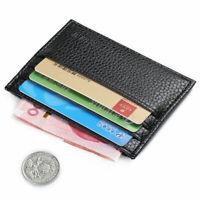 Herren Geldbörse Leder Geldbeutel Portemonnaie Minibörse klein Brieftasche Q5I3