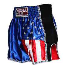 Muay Thai Shorts for men Retro Blue By World Mma Gear Handmade American Flag