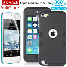 Armor Shock Proof Heavy Duty Case Impact Cover Film F Apple ipod Touch 6 5th Gen