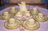 """Rosenthal. Sanssouci. Elfenbein """"Diplomat"""", 6 Personen Kaffeeservice .Top!"""