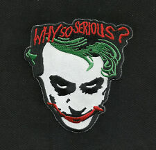 WHY SO SERIOUS? ROCKABILLY HOT ROD PUNK MOTORCYCLE JACKET VEST BIKER PATCH