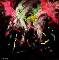 MY POP ART Toile Abstraite Originale de Sophie Queuniez, cotée Akoun/Artprice