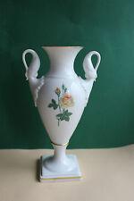 Vase, Amphore von Kaiser Porzellan, Motiv Rose, Höhe 23,5 cm