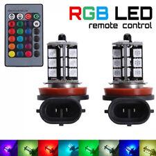 2x RGB H8 H9 H11 5050 27-SMD Bombillas luz de niebla coche LED teledirigida