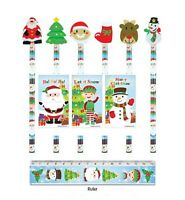 30 Christmas Pencils Notebook Ruler Sets Party Bag Stocking Fillers Teacher Gift