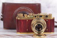 "Camera Leica ""Panzercampf"" model, lens Sonnar Carl Zeiss 2.8 / 52 mm"