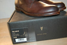 NIB FRYE 87133 Men's Will Lace Up 11.5 M Boots Brown Italian Leather $358