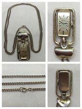 Montre à gousset HEIKA 17 jewels 835 argent Chaîne de montre silberkettenuhr